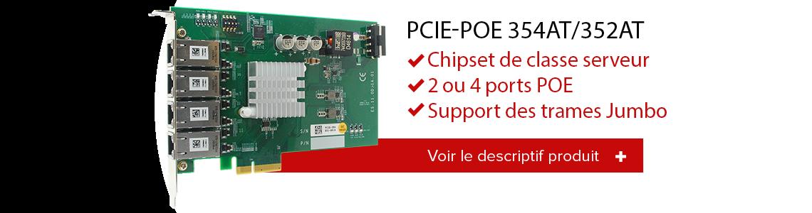PCIe POE 354at / 352at