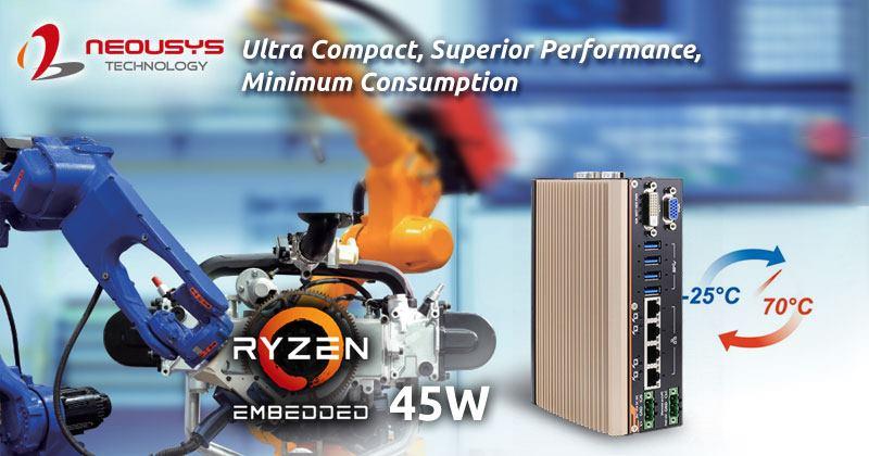 PC compact POC-500 Neousys pour SoC AMD Ryzen